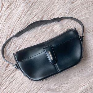 Guy Laroche Paris Leather Hobo Half Moon Handbag